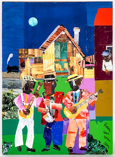 Romare Bearden (American, 1911-1988) Collage