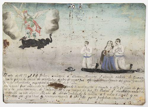 19th c. Mexican Retablo