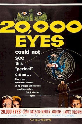 "Period Film Poster, ""20,000 Eyes"", 1961"
