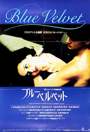 "Period Film Poster, ""Blue Velvet"""