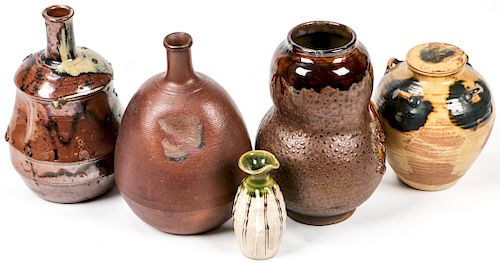Collection of 5 Fine Japanese Ceramics
