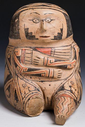 Seated Female Figural Jar, Casas Grandes, 1200-1260 AD