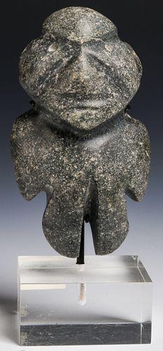 """Mezcala Stone """"Axe God"""", Mexico, 300 BC/300 AD"""