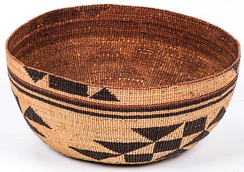 Twined Woman's Basketry Cap, Probably Karok, Northern California