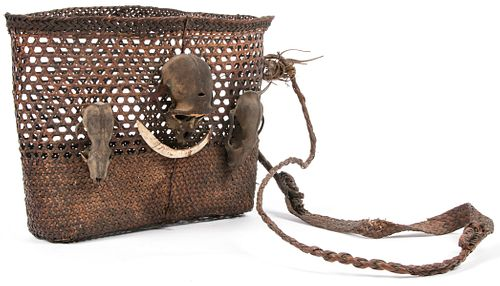 Naga Headhunter Basket, Konyak Naga Tribe