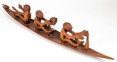 "Asmat ""Wuramon"" Spirit Boat, Papua New Guinea"