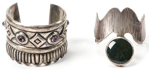 2 Silver Cuff Bracelets