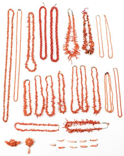 Assorted Vintage Coral Jewelry