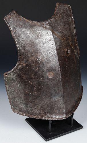 Spanish Colonial Forged Iron Armor Breast Plate