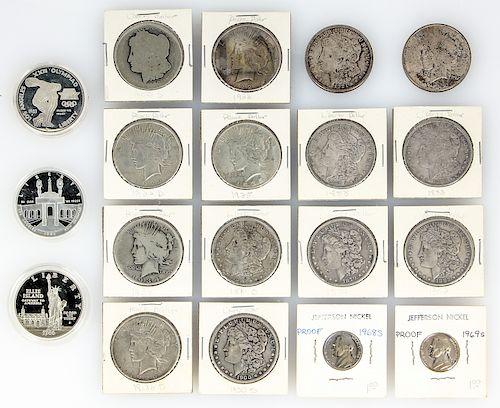 Estate Coin Collection including 7 Morgan Dollars