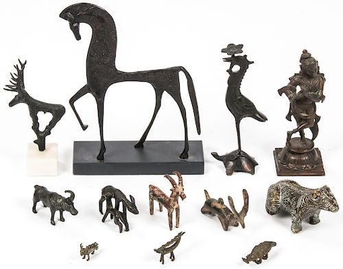 Estate Collection of 12 Bronze Sculptures