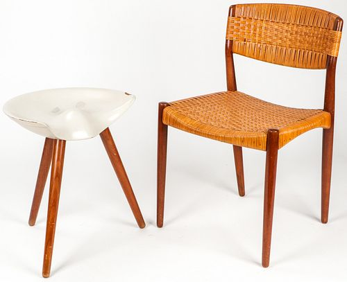 Vintage Modern Chair and Stool