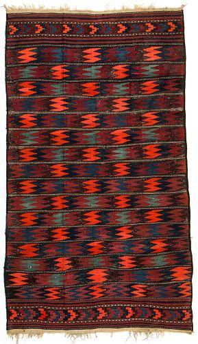Antique West Persian Kilim: 52'' x 89''