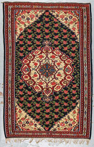 Semi-Antique Bidjar Kilim, Persia: 53'' x 81''