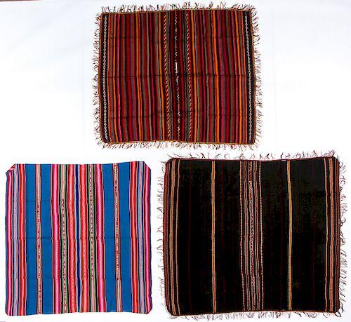 3 Vintage/Antique Central American Weavings