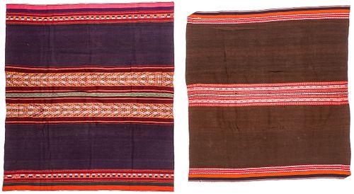 2 Finely Woven Antique Textiles, Santiago de Macha and La Paz, Bolivia