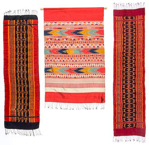 3 Lao/Thai Silk Ikat Textiles