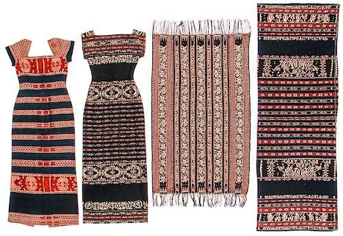 4 Indonesian Ikat Textiles