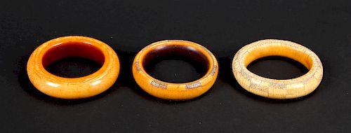 3 Assorted Antique Bangles, Nigeria
