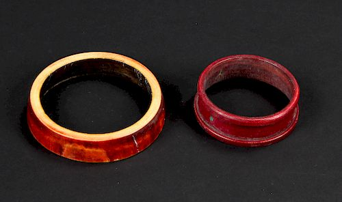 2 Assorted Antique Dowry Bangles, India