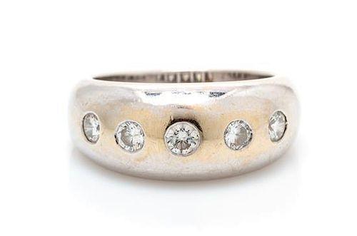 An 18 Karat White Gold and Diamond Ring, Bulgari, 7.50 dwts.