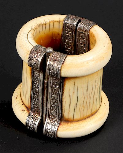 Antique Thick-Rimmed Cuff Bangle, India