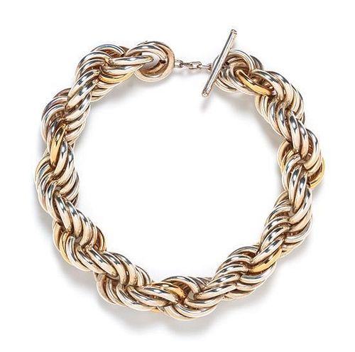 A Sterling Silver and Yellow Gold Necklace, Tiffany & Co., 176.60 dwts.