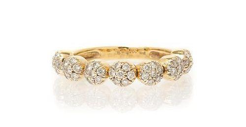 A 14 Karat Yellow Gold and Diamond Ring, Sonia B., 2.40 dwts.