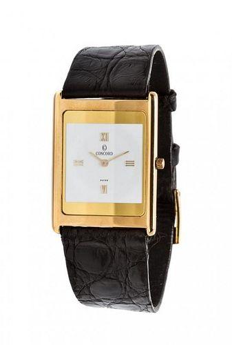 An 18 Karat Yellow Gold Delirium Wristwatch, Concord,