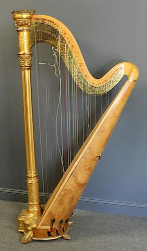 Lyon & Healy Antique Harp, Style 21 Gold  by Clarke Auction