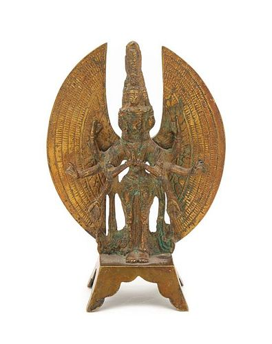An Indian Bronze Figure of A Garuda Height 6 1/2 inches.