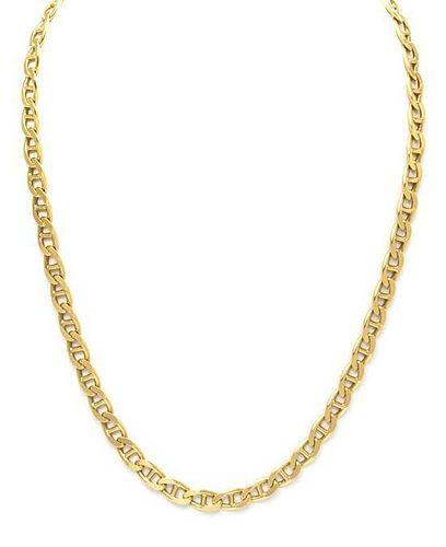 An 18 Karat Yellow Gold Anchor Link Necklace, Italian, 20.00 dwts.