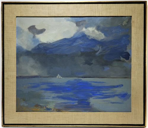 Barbara A Melcher O C Seascape Sailboat Painting By Bruneau Co