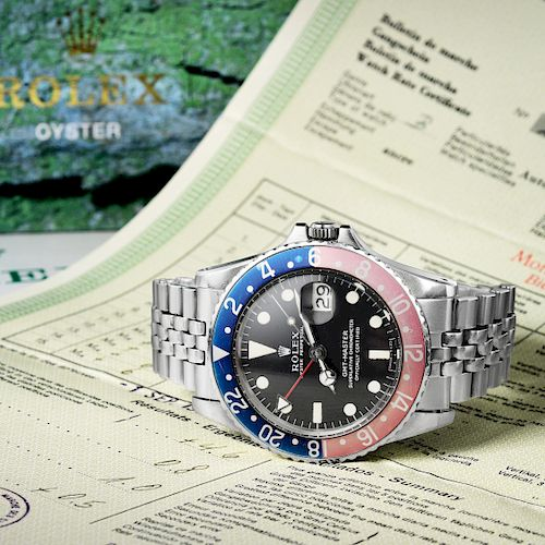 """Rolex Oyster Perpetual GMT-Master """"Pepsi"""" Watch, ref. 1675"""