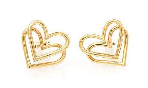 * A Pair of Yellow Gold Cufflinks, 9.85 dwts.