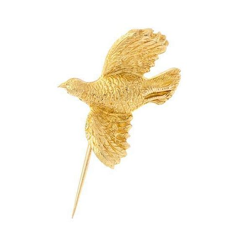* A Collection of Yellow Gold Bird Jewelry, 6.60 dwts.