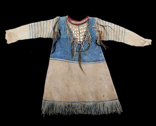 Oglala Lakota Sioux War Shirt w/ Elk Teeth 1870-80 by North