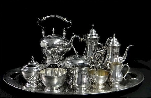 10 PC. STERL. SILVER TEA & COFFEE SERVICE BY LUNT