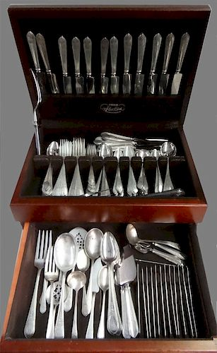 180 + PCS.  STERLING SILVER FLATWARE BY LUNT, 1926