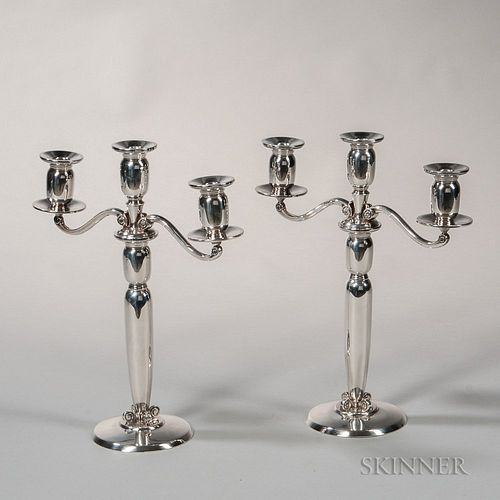 International Sterling Silver Three-light Convertible Candelabra