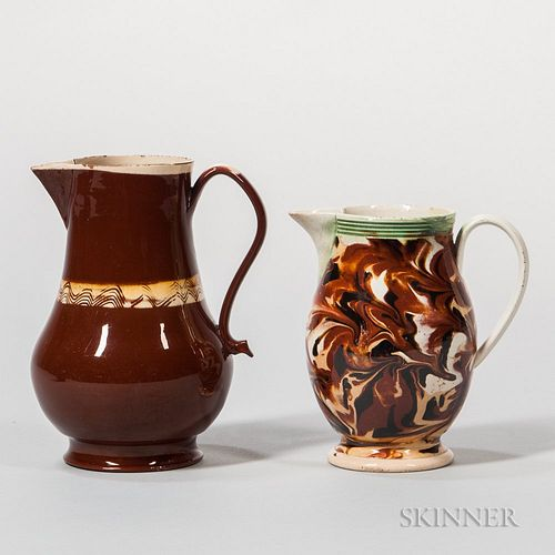 Two Early Staffordshire Jugs