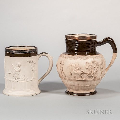 Two Adams Stoneware Items