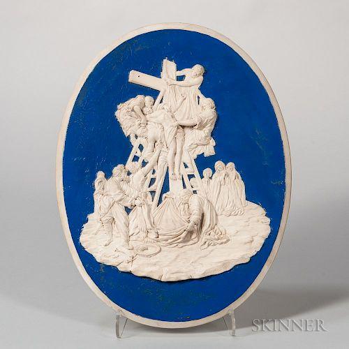 Enoch Wood Glazed Stoneware Plaque