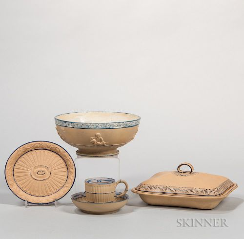 Four Caneware Items