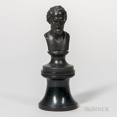 Wedgwood Black Basalt Classical Male Bust