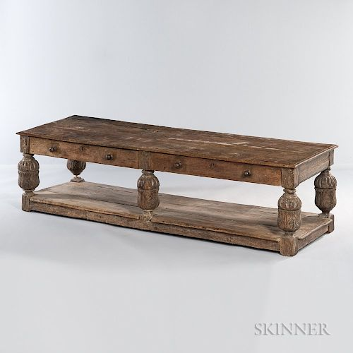 Jacobean-style Oak Low Table