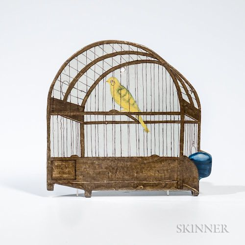 Dutch Delft Birdcage Plaque
