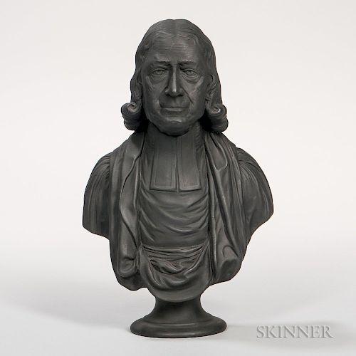 Enoch Wood Black Basalt Bust of John Wesley