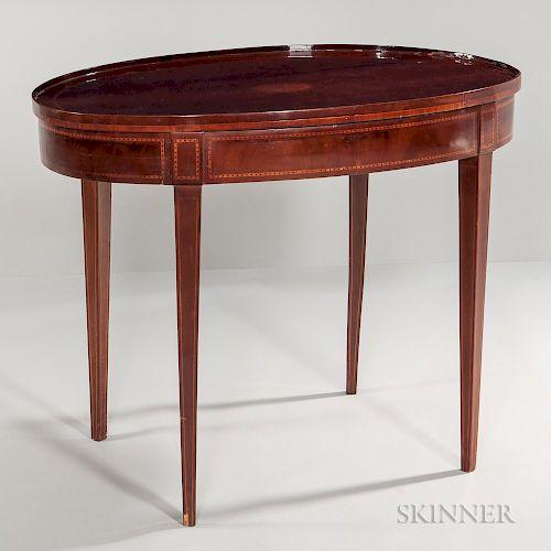 Georgian-style Oval Tea Table