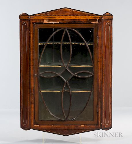 Neoclassical Hanging Corner Cupboard